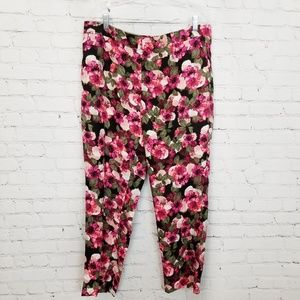 Banana Republic|Floral Avery Mid Rise Cropped Pant